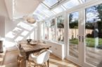 Picture of a conservatory with a table in